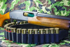 Pump action shotgun Royalty Free Stock Photography