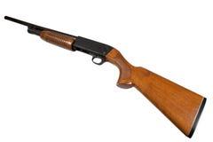 Pump action shotgun Stock Photo
