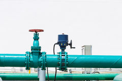 Pump and control valve Stock Photo