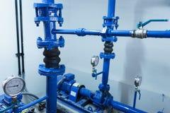 Pump för blått vatten Arkivfoto