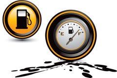 pump för olja för gauge för bränslegas royaltyfri illustrationer