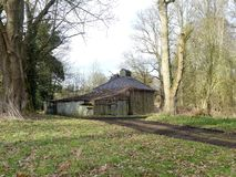 The Pump House, Chorleywood House Estate, Hertfordshire. Built over a channel from the River Chess in 1826. stock image