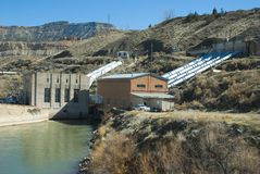 Pump house and power station. Part of a rural irrigation system in western Colorado Royalty Free Stock Images