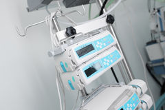 Pump infusion machine in ICU Royalty Free Stock Photo