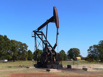 Pump Jack. In East Texas Stock Images