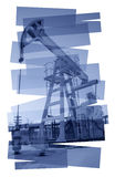 Pump jack abstract background. Stock Images