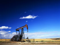 Pump jack in action Stock Photography