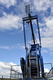 Pump jack closeup from the front Royalty Free Stock Photography
