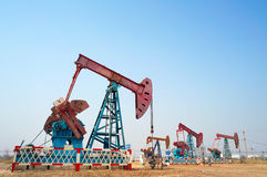 Pump-jack group Stock Image