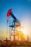 Pump jack ,long exposure Royalty Free Stock Photos