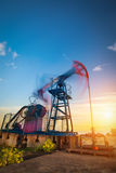 Pump jack ,long exposure Royalty Free Stock Photo