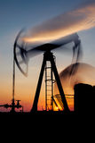 Pump jack ,long exposure Stock Images