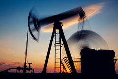 Pump jack ,long exposure Royalty Free Stock Photography
