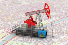Pump Jack Oil Crane 3d rendering Royalty Free Stock Image