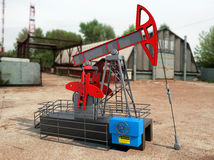 Pump Jack Oil Crane Royalty Free Stock Photos