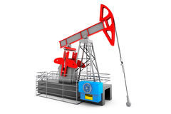 Pump Jack Oil Crane Stock Image