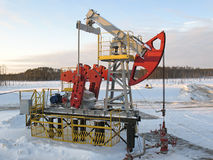 Pump jack. Oil and gas Stock Image