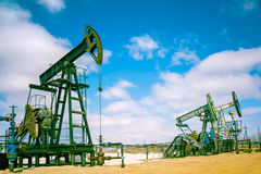 Pump jack. Stock Images