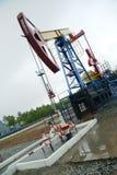 Pump jack, oil industry Stock Photos