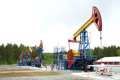 Pump jack, oil industry stock photo