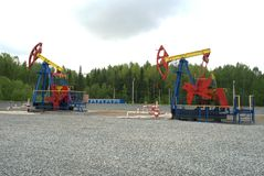 Pump jack, oil industry Stock Photography