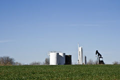 Pump Jack and Tank Farm-6906 Stock Image