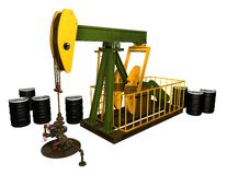 Pump Jack With Wellhead Royalty Free Stock Photo