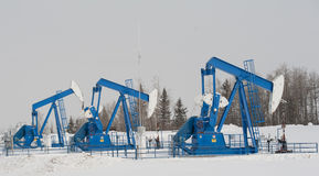 Pump Jacks in centra Alberta Royalty Free Stock Images