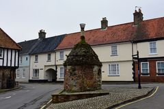 The Pump, Little Walsingham, Norfolk, UK stock images