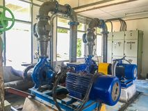 Pump motor in Water Treatment Plant royalty free stock photography