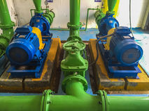 Pump motor. In Water Treatment Plant of Thailand stock image