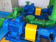 Pump motor. In Water Treatment Plant of Thailand stock photography