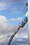 Pump for natural gas. Handle on pump for natural gas at serviee station Stock Images