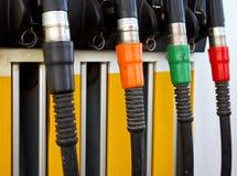 Pump nozzles Stock Photography