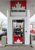 Pump in Petro Canada Gas Station Stock Photos