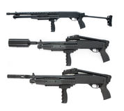 Pump rifle collection Stock Images