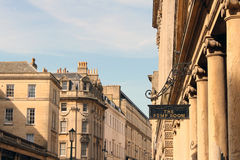 The Pump Room sign in Bath, Somerset, UK royalty free stock photography
