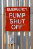 Pump Shut Off Stock Photo