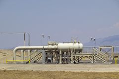 Pump station. Natural gas pumping and storage station Stock Images