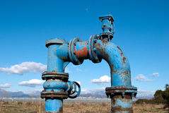 Pump water for irrigation agriculture Stock Photos