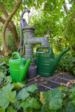 Pump well and watering cans 01 Stock Photo