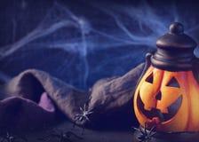 pumpa för halloween head lyktamonster Fotografering för Bildbyråer