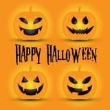 pumpa för halloween lycklig stålarlykta o vektor illustrationer