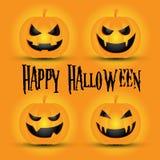 pumpa för halloween lycklig stålarlykta o royaltyfri illustrationer