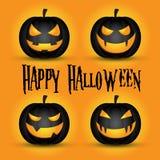 pumpa för halloween lycklig stålarlykta o stock illustrationer