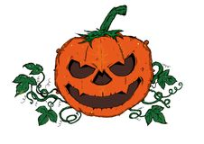 Pumpa halloween stock illustrationer