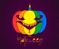 Pumpa halloween i form av en haj vektor illustrationer