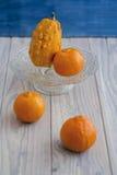 Pumpa och apelsin Arkivbild