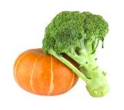 Pumpa och broccoli Arkivbild