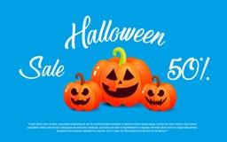 Pumpa och halloween Banerförsäljning för ferie Arkivfoton